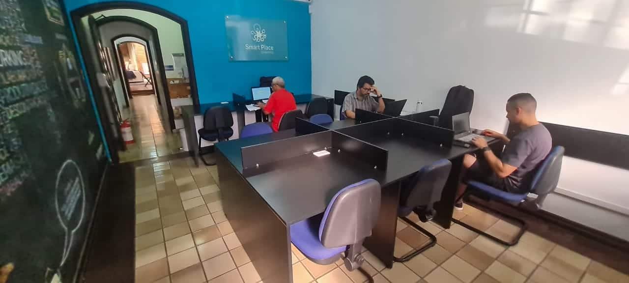 Smart Place Coworking Osasco Posição Trabalho Mesa Rotativa